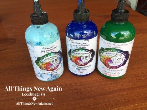 How To Create a Beautiful Side-by-Side Technique with Unicorn Spit rainbow gel stain. By All Things New Again. wwww.AllThingsNewAgain.net