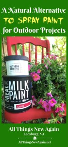 A Natural Alternative to Spray Paint for Outdoor Projects | Outdoor Furniture DIY | Porch and Patio Decorating Ideas | Real Milk Paint Co. Outdoor Additive