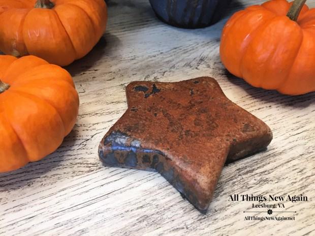 DIY Rusty Fall Decor | Dixie Belle Patina Paint | Rusty Star Decor | All Things New Again