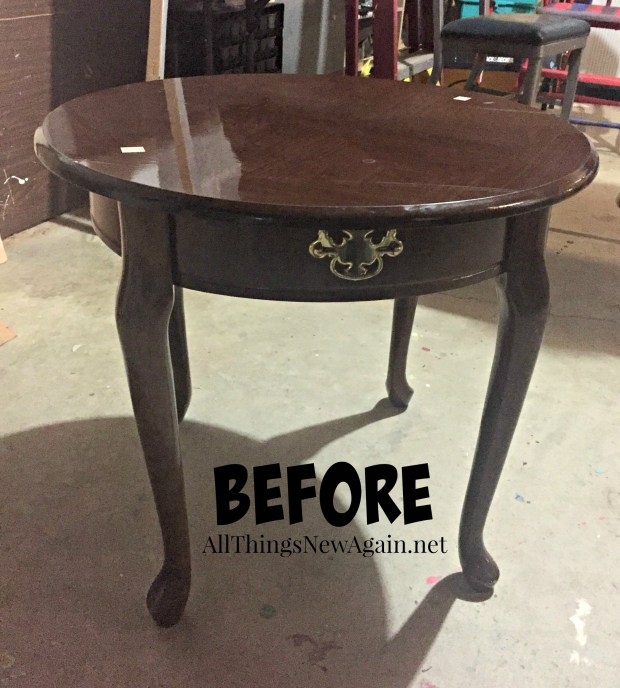 Farmhouse Green Table Before Shot | All Things New Again
