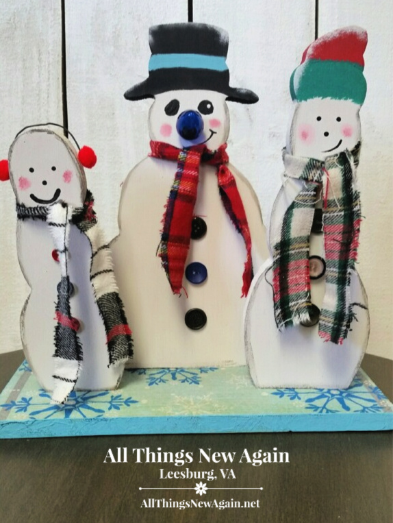 Virtual Paint Party | Light Up Snowmen | All Things New Again