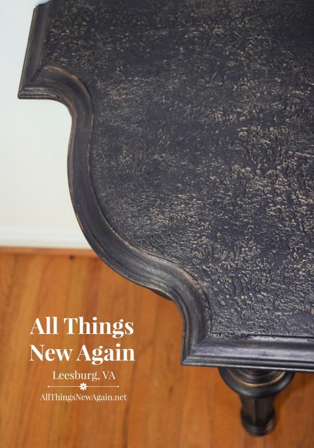 Saltwash | Dixie Belle Paint | Aubergine | Copper Bronze Glaze | All Things New Again | Leesburg VA