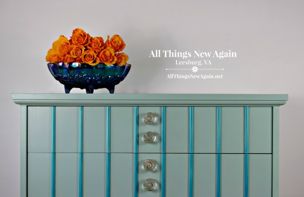 Painted Furniture | Aqua Dresser | Turquoise Dresser | Dixie Belle Paint | Sea Glass