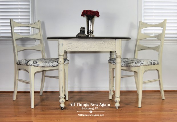 Kitchen Table and Chairs | Farmhouse Style Furniture | Painted Furniture | All Things New Again | Leesburg VA Furniture Store