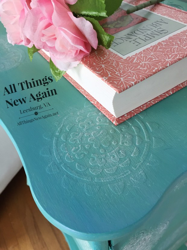 Raised stencils are an easy way to add flair to your next painted furniture project. Tutorial by All Things New Again.