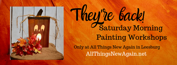 Saturday Morning Painting Workshops | Pumpkin Painting Workshop | All Things New Again | Leesburg VA