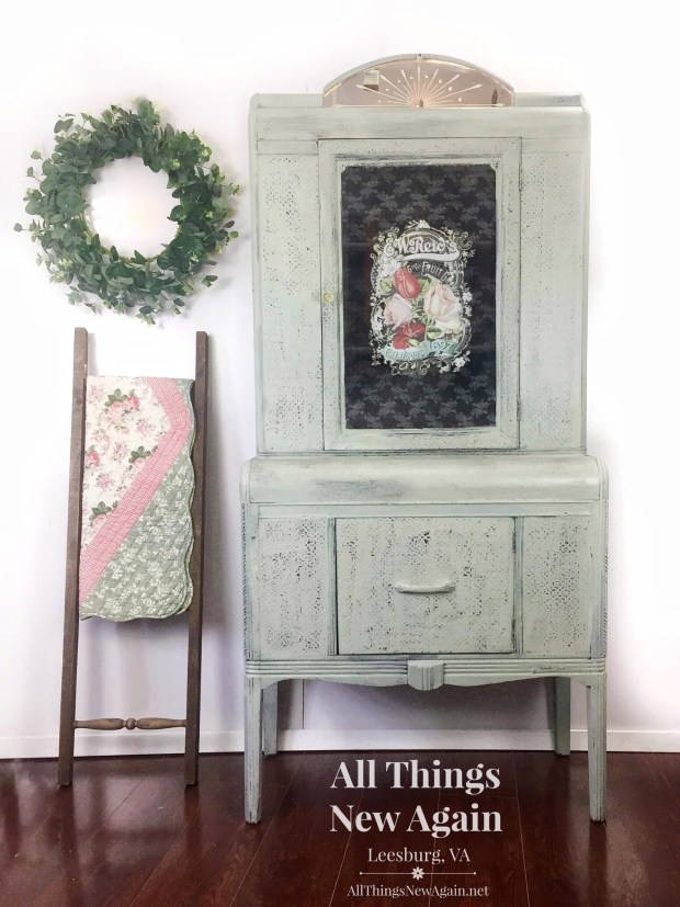 Vintage Nightstand | Real Milk Paint | ReDesign with Prima | Painted Furniture
