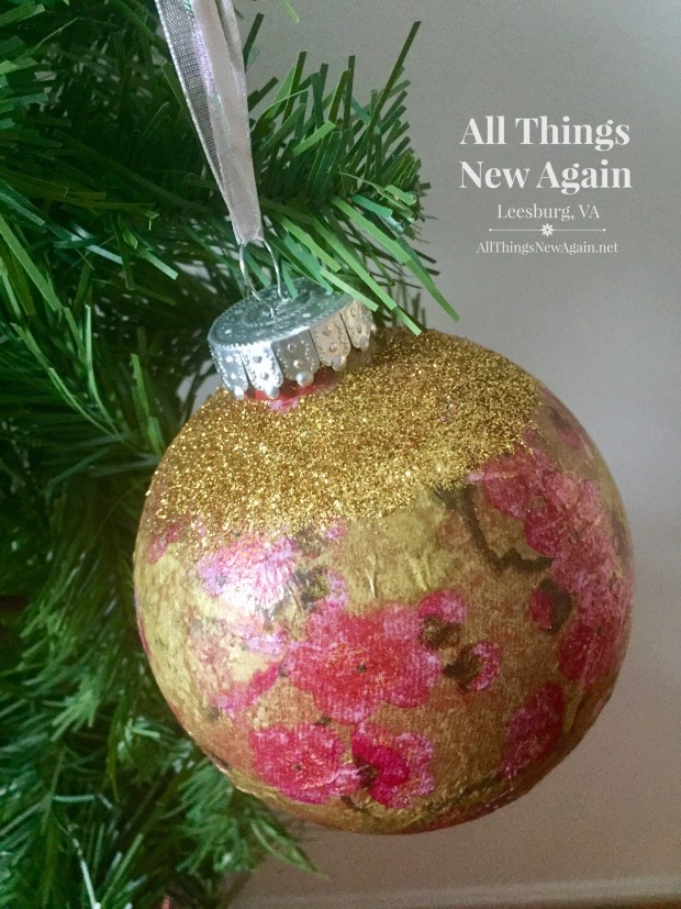 Decoupage Ornaments the Easy Way | How to Decoupage Christmas Ornaments | How to Make Christmas Ornaments | All Things New Again
