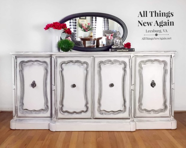 White buffet | 2019 painted furniture | All Things New Again | Leesburg VA