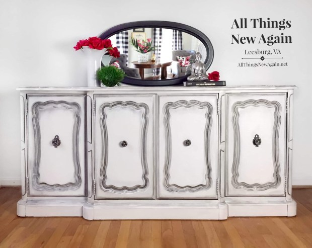Media Console | Media Center | Painted Furniture | White Buffet