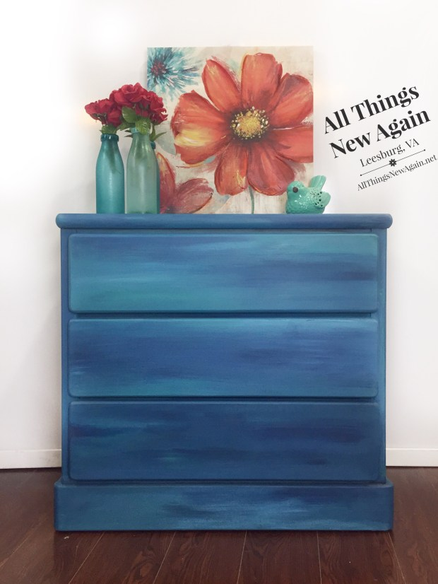 Blue Blended Dresser | Blend of Dixie Belle Blues | By All Things New Again