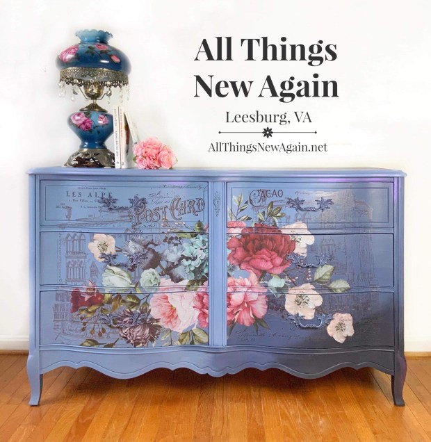 Blue French Provincial Dresser For Sale
