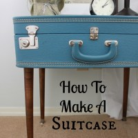 How to Make a Suitcase End Table