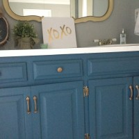 Painting Master Bathroom Vanity with Chalk Paint