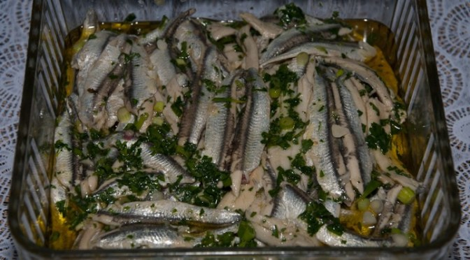 SARDINE, CRUDE E CONDITE (Sardines – raw and marinaded)