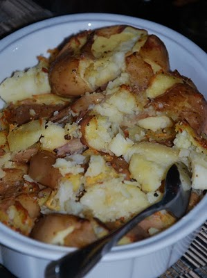 PATATE as a contorno (Two recipes for 'squashed' potatoes, Patate in tecia).