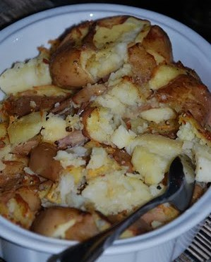 PATATE as a contorno (Two recipes for 'squashed' potatoes).