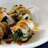 BRACIOLINI or INVOLTINI DI PESCE – Small fish braciole stuffed with herbs, cooking demonstration at the Adelaide Showground Farmers Market