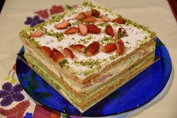 MILLEFOGLIE or Millefeuille and CREMA PASTICCIERA or crème pâtissière