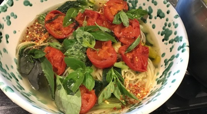 SICILIAN SUMMER SOUP – made with tendrils of a Sicilian squash