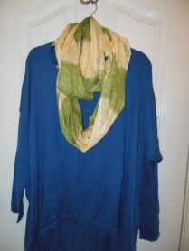 Two Tone Infinity Scarf $30.00