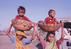 young mothers in India