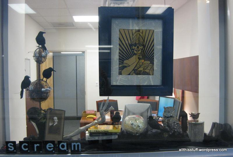 Office Halloween Window