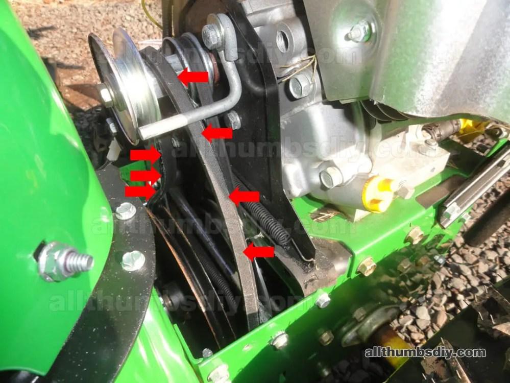 medium resolution of john deere 1330se mangled auger pulley belt fl
