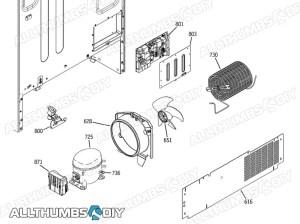 GE Profile SideBySide Refrigerator Parts Diagram