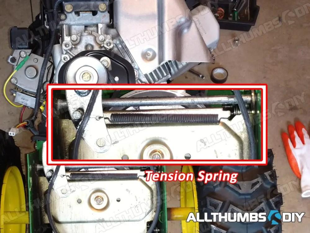 medium resolution of allthumbsdiy johndeere 1330se belt tension spring fl