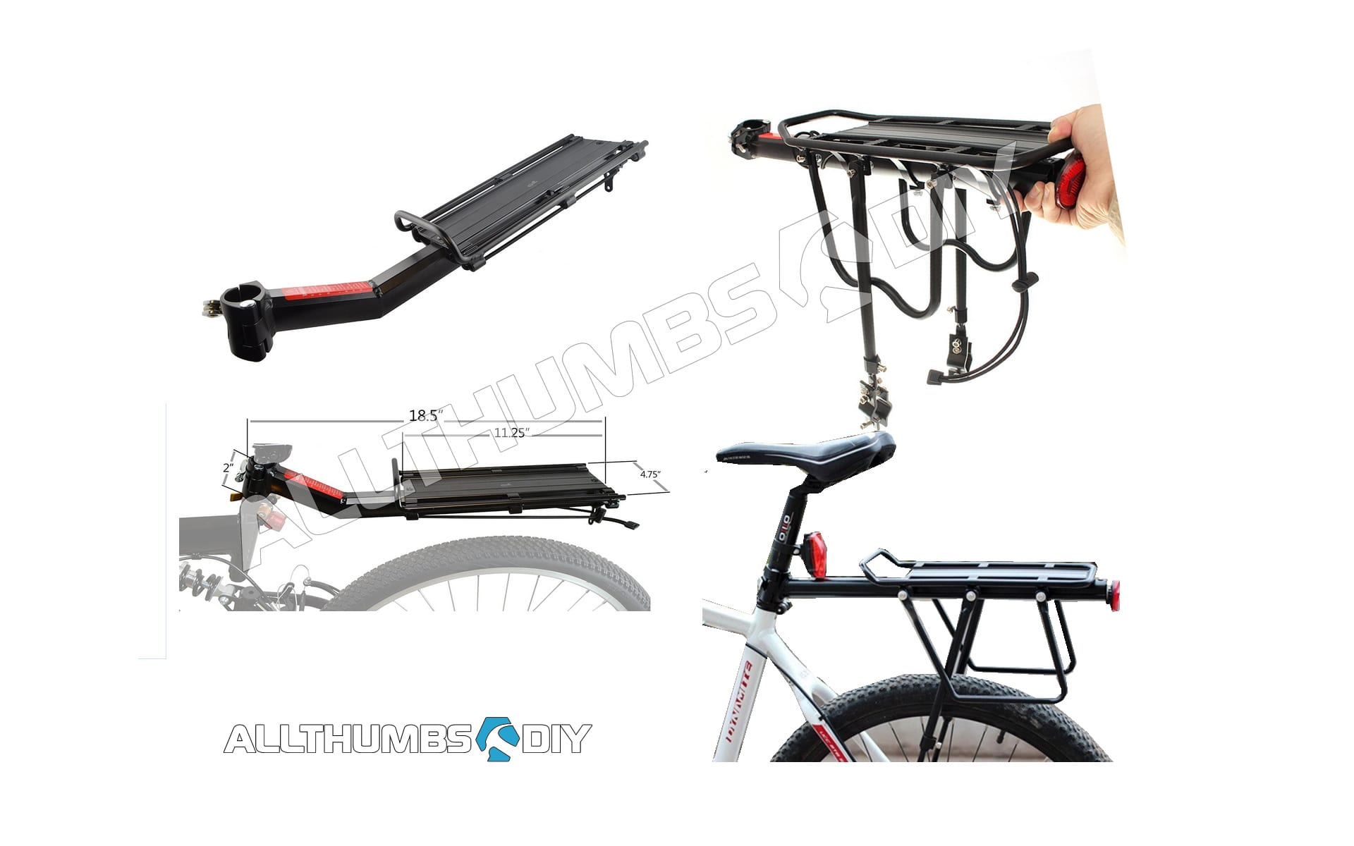 Allthumbsdiy Bike Rack Review Tray Seat Post Vs Tray Only