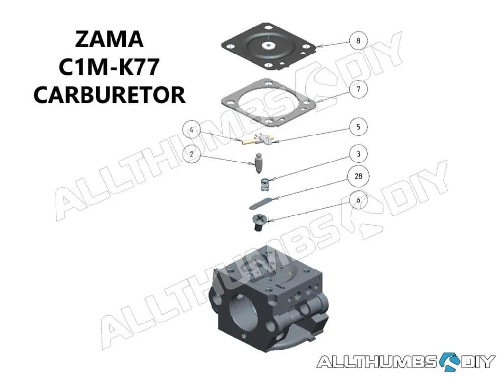 echo leaf blower parts diagram 2003 dodge ram 2500 trailer wiring pb 413h zama c1m k77 carburetor tear down cleaning