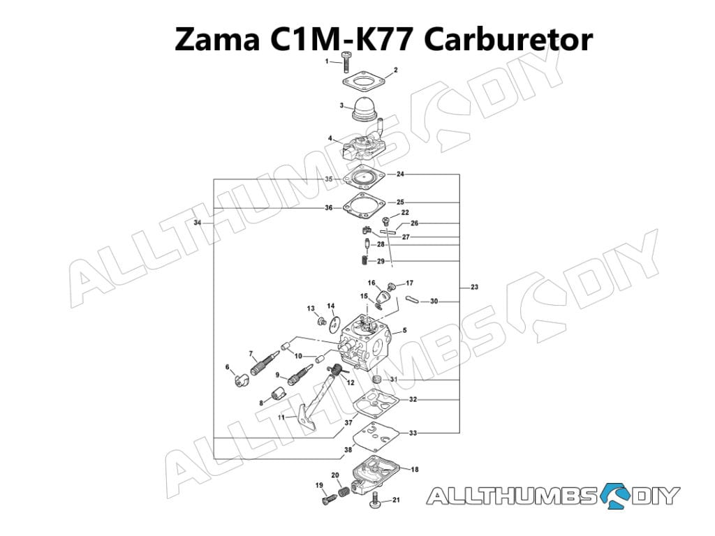 Echo Pb 413h Zama C1m K77 Carburetor Tear Down Cleaning