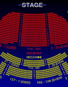 Eugene   neill theatre interactive  seating chart also the all tickets inc rh allticketsinc