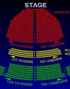 John golden theatre interactive  seating chart also the all tickets inc rh allticketsinc