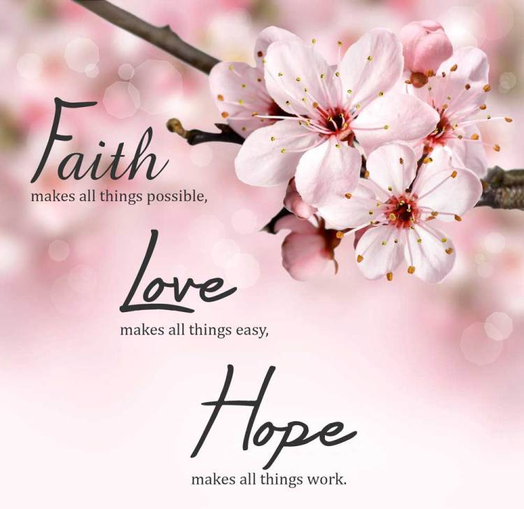 quote about faith Love and Hope
