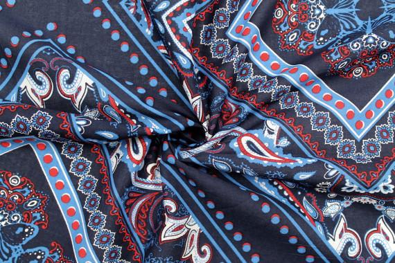 tissu voile coton mosaique marine de qualite tissu au metre tissu pas cher alltissus com