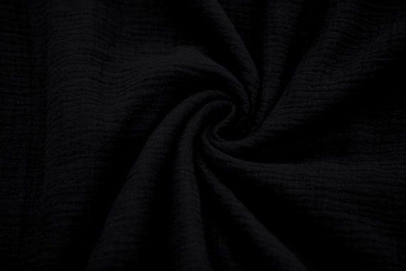tissu double gaze noir de qualite coupon de 3 metres tissu pas cher alltissus com
