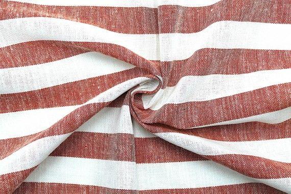 tissu lin viscose coton rayure ava rouge de qualite tissu au metre tissu pas cher alltissus com