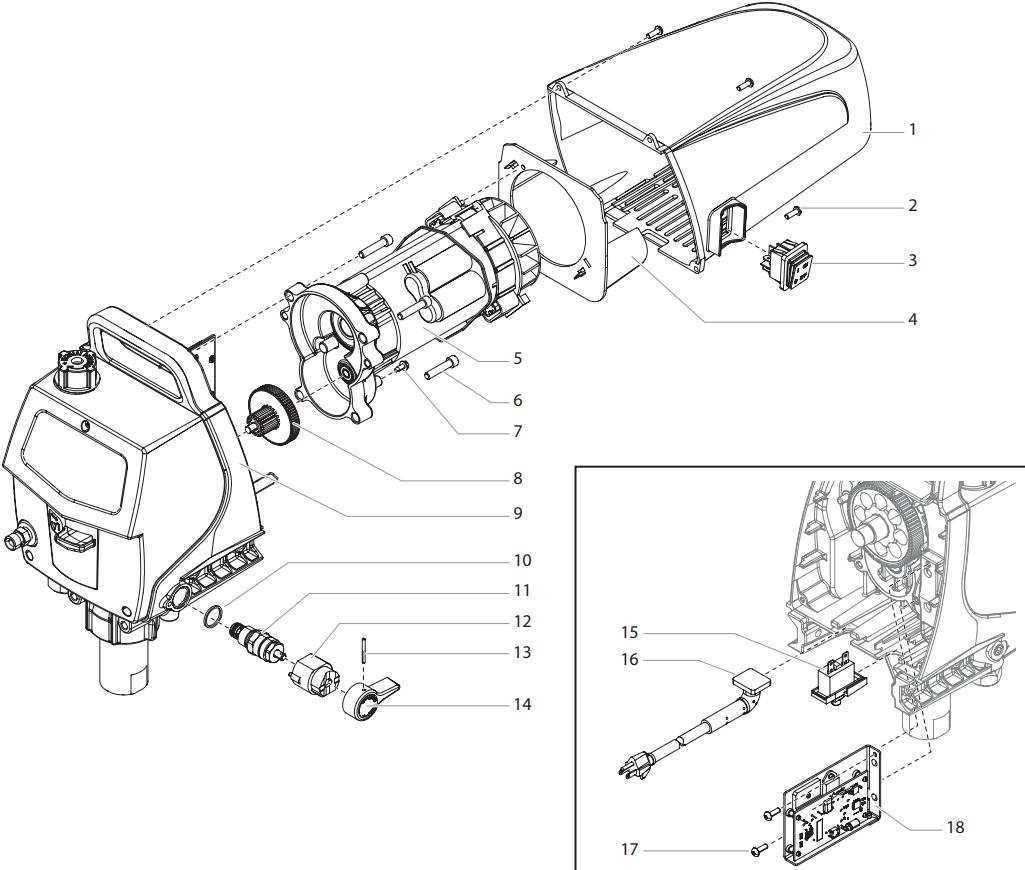 Impact 400 Drive Assembly I Titan Speedflo Wagner