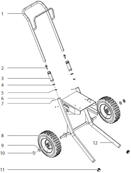 Advantage GPX 85 Cart Assembly : Titan, Speedflo, Wagner
