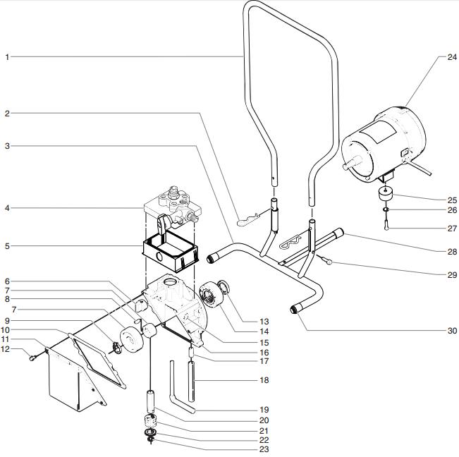 ED655 Airless Pump : Titan, Speedflo, Wagner, Spraytech