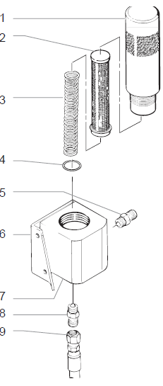 EP2105 Filter Assembly : Titan, Speedflo, Wagner
