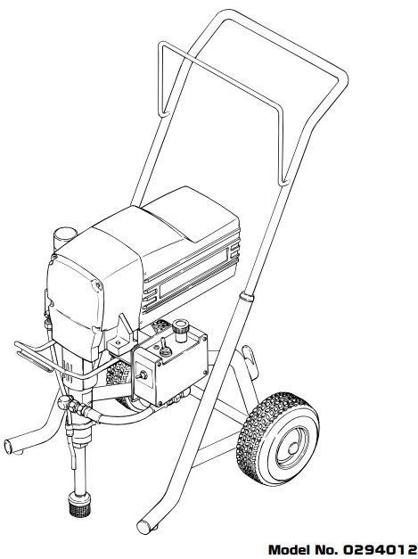 EP2510 Piston Pump 120V Standard : Titan, Speedflo, Wagner