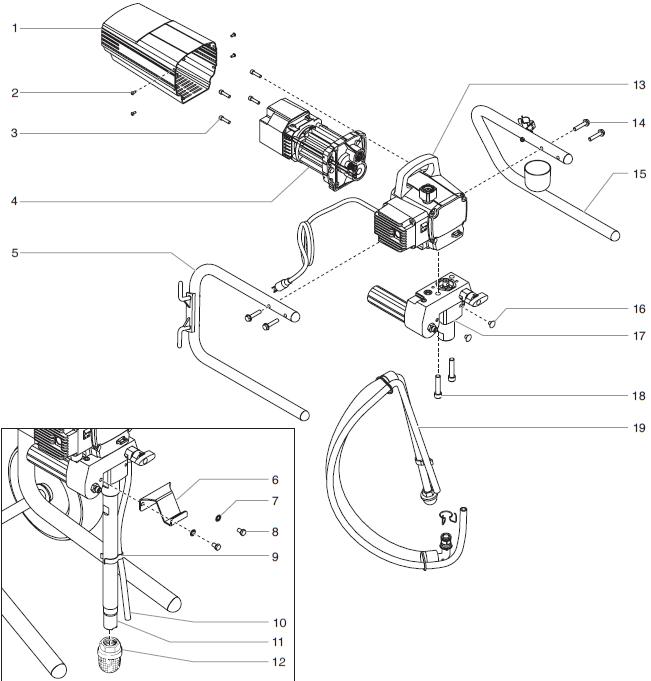 EPX2255 Main Assembly : Titan, Speedflo, Wagner, Spraytech