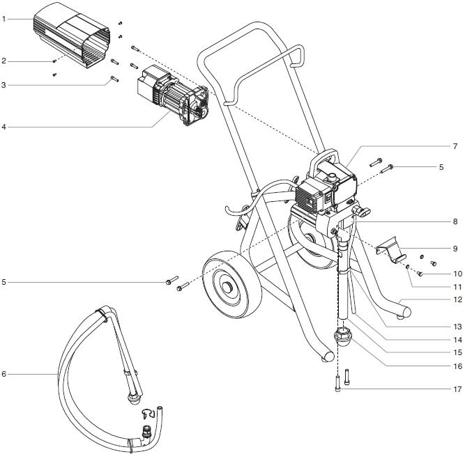 EPX2355 Piston Pump : Titan, Speedflo, Wagner, Spraytech