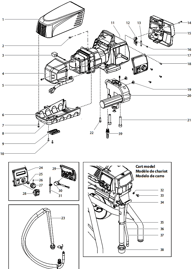 Impact 640 Main Assembly : Titan, Speedflo, Wagner