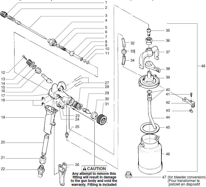 Maxum II Turbine Cup Gun (0277034) : Titan, Speedflo