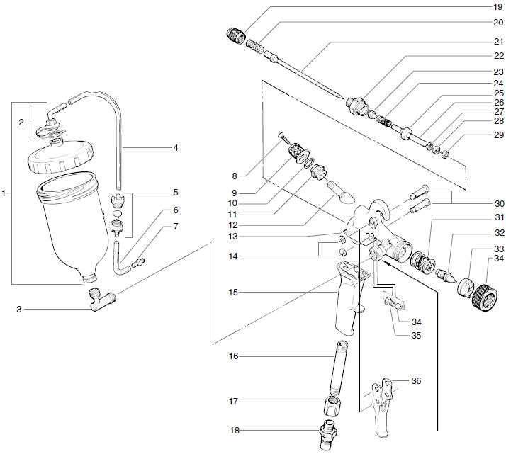 Maxum II Turbine Top Feed Gun (0277055) : Titan, Speedflo