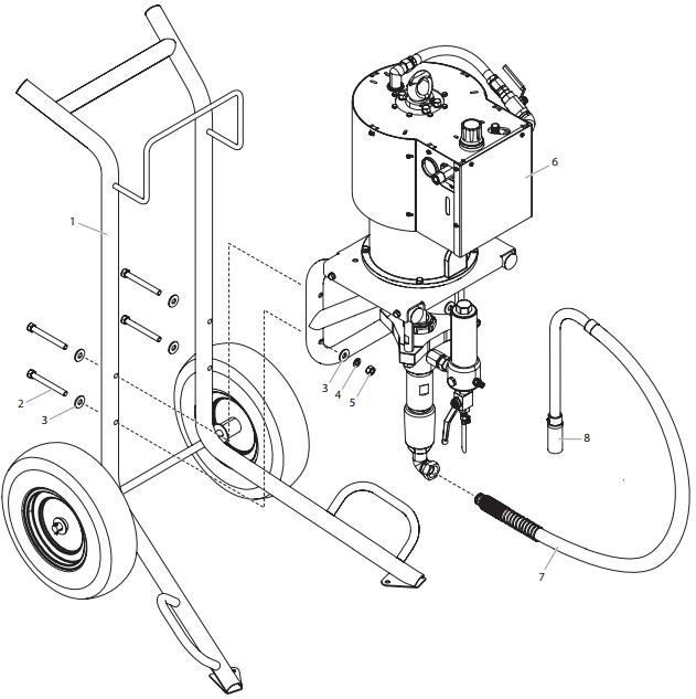 PowrCoat 1072 Main Assembly : Titan, Speedflo, Wagner